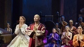Kelli O'Hara as Anna and Hoon Lee as the King of Siam and the cast of  The King and I
