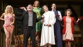 Megan Hilty as Brooke Ashton, Daniel Davis as Selsdon Mowbray, Kate Jennings Grant as Belinda Blair, Jeremy Shamos as Frederick Fellowes, David Furr as Garry Lejeune & Andrea Martin as Dotty Otley in Noises off