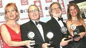 Tonys 2004 - Winners Circle - Ellen Richard - Todd Haimes - John Weidman - Julia Levy