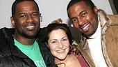 Stars Backstage at Wicked - Brian McKnight - Shoshana Bean - Silas White