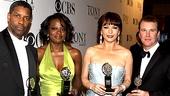 The Best of the Best: Lead actors winners Denzel Washington (Fences), Viola Davis (Fences), Catherine Zeta-Jones (A Little Night Music) and Douglas Hodge (La Cage aux Folles).