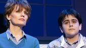 Beth Leavel as Emily and Matthew Gumley as Michael in Elf.