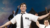 Andrew Rannells as Elder Price, Josh Gad as Elder Cunningham the cast of The Book of Mormon.