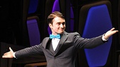 How to Succeed Opening Night – Daniel Radcliffe (arms out)