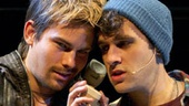 Matt Shingledecker as Roger Davis and Adam Chanler-Berat as Mark Cohen in Rent.