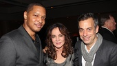Stockard Channing gets between Justin Ellington, who composed original music for the production, and her Other Desert Cities and Pal Joey director, Joe Mantello.