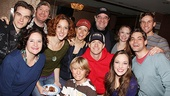 <i>Bonnie & Clyde</I> Birthday Pizza Party – the cast of <i>Bonnie & Clyde</i>