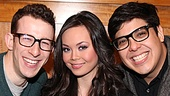 The holy trinity! Nick Blaemire, Anna Maria Perez de Tagle and George Salazar prove that sometimes three's company after all.