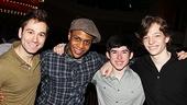 Newsies- Michael Fatica, Ephraim M. Sykes, Andy Richarson and Mike Faist
