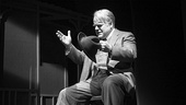 Philip Seymour Hoffman as Willy Loman in Death of a Salesman.