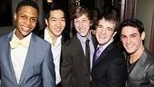 Newsies – Opening Night – Ephraim Sykes – Alex Wong – Ryan Breslin – Evan Kasprzak – Tommy Bracco