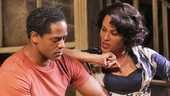 Blair Underwood as Stanley, Nicole Ari Parker as Blanche and Daphne Rubin-Vega as Stella in A Streetcar Named Desire.