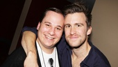 The Book of Mormon's Jared Gertner poses with the show's future national tour star Gavin Creel.
