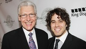 Two foreign recipients share a smile: Last year's honoree Tony Sheldon (Priscilla Queen of the Desert) and Josh Young, honored this year for Jesus Christ Superstar.