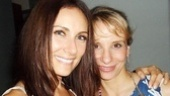 Broadway pals Laura Benanti and Sarah Saltzberg kick back at Rockwell.