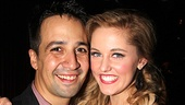 It's a picture-perfect evening for composer Lin-Manuel Miranda and his star, Taylor Louderman.