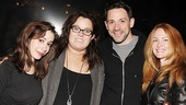 O'Donnell and Rounds pose with the show's leading couple, Tony nominee Cristin Milioti and Tony winner Steve Kazee.