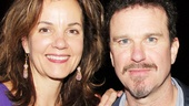 Douglas Hodge receives a happy welcome from the delightful Margaret Colin, who last appeared on Broadway in The Columnist.