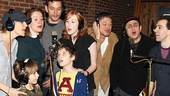 Chaplin stars (from left) Jenn Colella, Zachary Unger, Christiane Noll, Wayne Alan Wilcox, Ethan Khusidman, Erin Mackey, Jim Borstelmann, Michael McCormick and Rob McClure lend their vocal talents to the new recording.