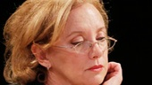 J. Smith-Cameron as Jane Apple Halls and Laila Robins as Marian Apple Platt in Sorry.
