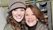 Linda Lavin congratulates the lady of the hour, Laura Osnes, on her magical first preview as the title star of Cinderella.