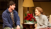 Jake Silbermann as Tim and Jessica Hecht as Julie in The Assembled Parties.