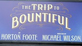 The Trip to Bountiful – Opening Night – marquee