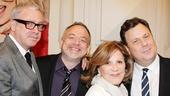 Theatrical greats Scott Wittman, Marc Shaiman, Linda Lavin and Brooks Ashmanskas gather for group photo.