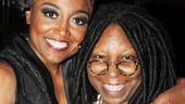 Deloris Van Cartiers unite! Pippin star and Sister Act alum Patina Miller catches up with Whoopi Goldberg, who starred in the original Sister Act film.