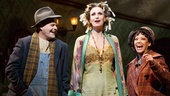 Clarke Thorell as Rooster, Jane Lynch as Miss Hannigan and J. Elaine Marcos as Lily in Annie.