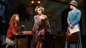 Lilla Crawford as Annie, Jane Lynch as Miss Hannigan and Brynn O'Malley as Grace in Annie.