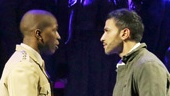 Leslie Odom Jr. as Markos Monroe and Haaz Sleiman as Venice Monroe in Venice.