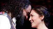 Eric Anderson as Shlomo Carlebach and Zarah Mahler as Ruth in Soul Doctor: Journey of a Rock-Star Rabbi.