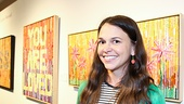 Actress-turned-artist Sutton Foster is all smiles at her NYC gallery opening. (You are loved, Sutton!)