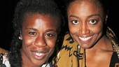 Orange Is the New Black star Uzo Aduba and Tony winner Patina Miller catch up after the show.