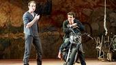 Conrad Kemp as Benvolio & Orlando Bloom as Romeo in Romeo and Juliet