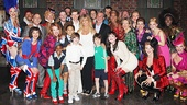 Goldie Hawn & Kurt Russell at Kinky Boots – group