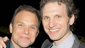 Norbert Leo Butz gets opening night congrats from A Time to Kill star Sebastian Arcelus.