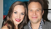 Laura Osnes and Norbert Leo Butz take an adorable snapshot at the Allen Room.