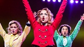 Elle McLemore as Heather McNamara,  Jessica Keenan Wynn as Heather Chandler, Alice Lee as Heather Duke and Barrett Wilbert Weed as Veronica Sawyer in Heathers: The Musical