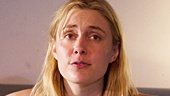 Jason Butler Harner as John and Greta Gerwig as Becky in The Village Bike.