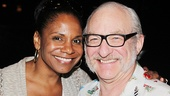 Audra McDonald and Phantom's Timothy Jerome flash big smiles.