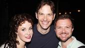 Phantom star Sierra Boggess with her co-star Jim Weitzer and his partner Chris Gunn.