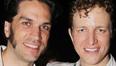 Les Miserables star Will Swenson (Javert) hangs out with Phantom player and former Les Miz star Jeremy Hays.