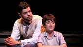 Jeremy Jordan as J. M. Barrie and Aidan Gemme as Peter Llewelyn Davies in Finding Neverland