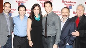 Broadway Salutes director Marc Bruni with performers Jarrod Spector, Lindsay Mendez, Andy Karl and Adam Heller and host Harvey Fierstein.