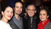 Hamilton – opening night – 2/15 – Vanessa Nadal Miranda – Lin-Manuel Miranda – his parents