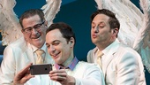 Tim Kazurinsky as Gabriel,  Jim Parsons as The Almighty & Christopher Fitzgerald as Michael in An Act of God