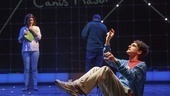 Rosie Benton as Siobhan and Tyler Lea as Christopher in The Curious Incident of the Dog in the Night