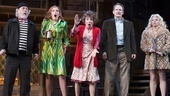 Daniel Davis as Selsdon Mowbray, Kate Jennings Grant as Belinda Blair, Andrea Martin as Dotty Otley, Campbell Scott as Lloyd Dallas & Megan Hilty as Brooke Ashton in Noises off